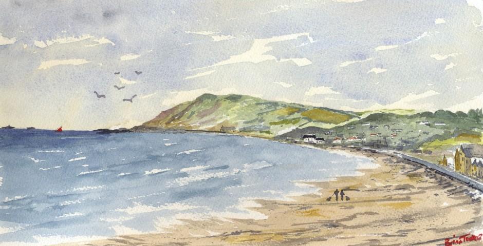 Ballygally on the Antrim Coast. 30 by 16 cms. £120