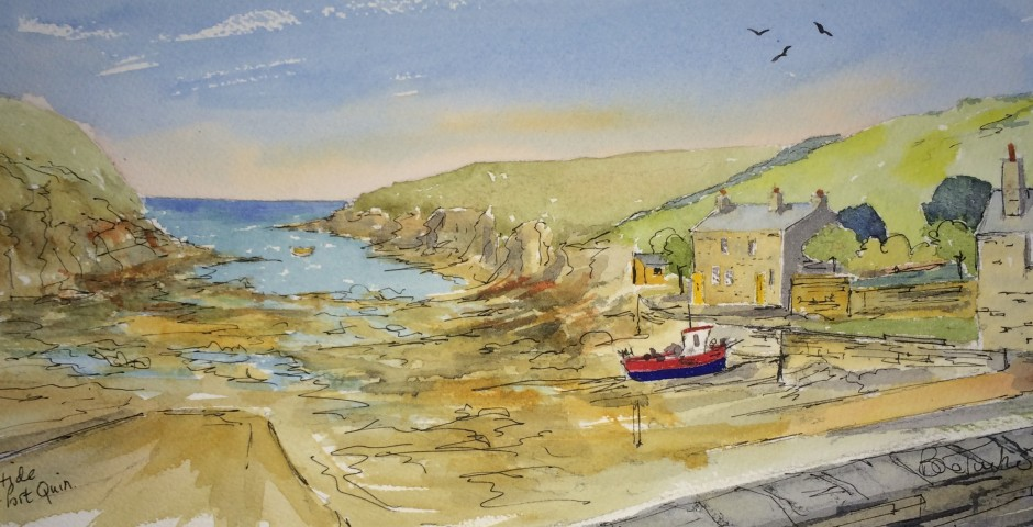 Port Quin in Cornwall. 29 by 15 cms. £120