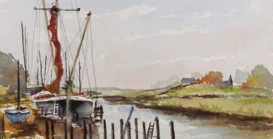Barges at Hollowshore in Kent