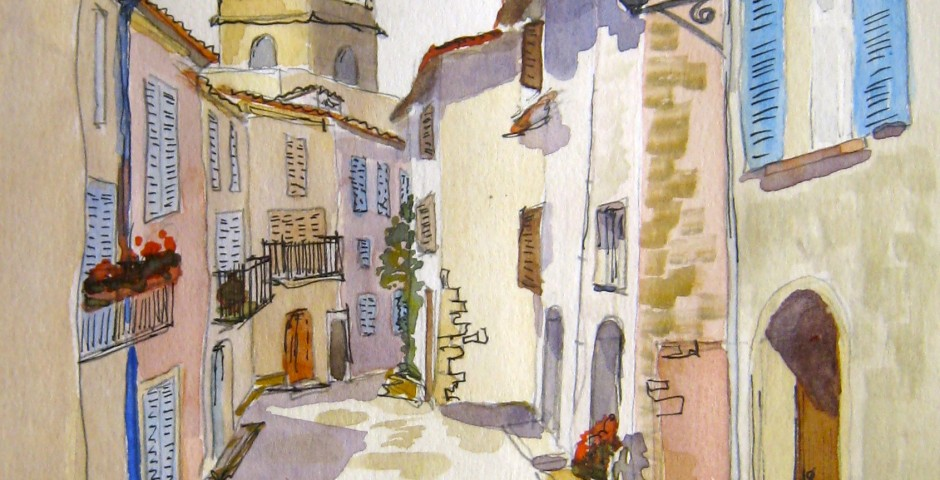 Mons in Provence. 23 by 15 cms. £75