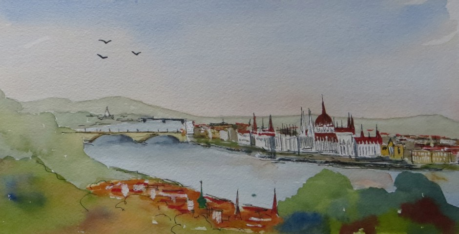 Budapest 29 by 15 cms. £120