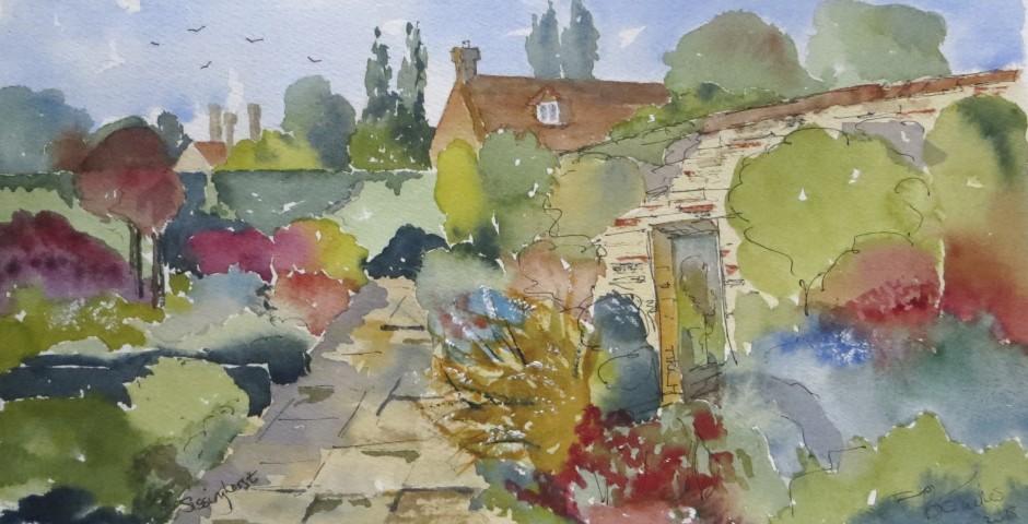 Sissinghurst garden in Kent. 29 by 15 cms.£130