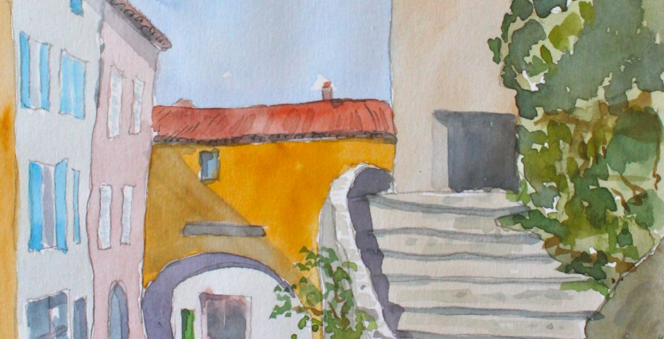 Seillans in Provence. 21 by 14 cms. £90