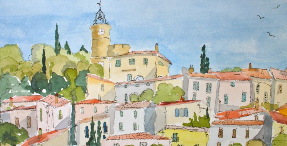 Fayence in Provence. 21 by 14cms. £100