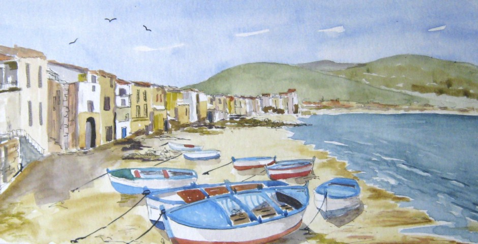 Cefalu in Sicily. 50 by 19 cms. £130