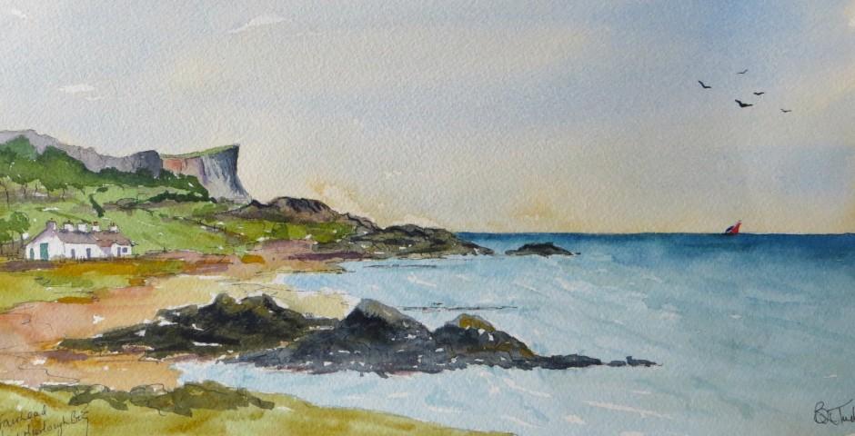 Murlough Bay, County Antrim 29 by 15 cms. £120