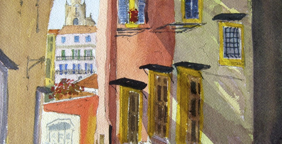 San Siro Cathedral in San Remo,Italy. 25 by 23 cms. £140