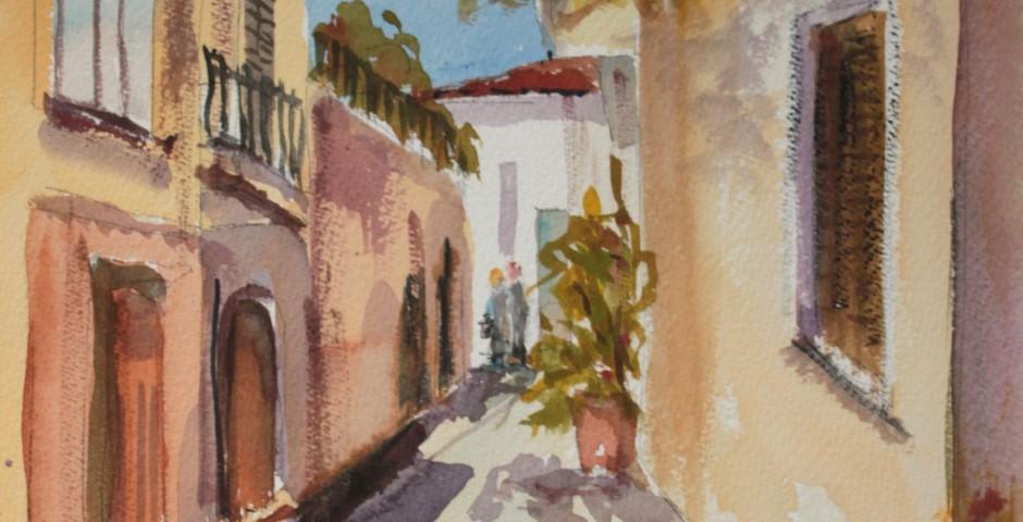 Aghios Nikolaos in Crete. 36 by 26 cms. £140