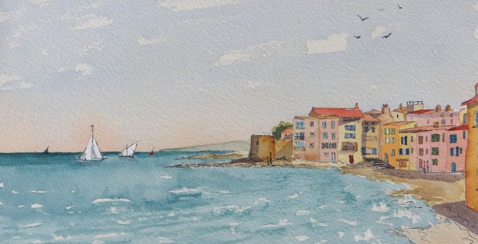 St Tropez. 30 by 23 cms. £120
