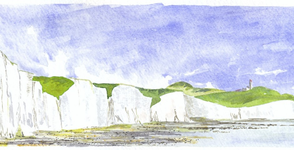 The Seven Sisters Cliffs,Sussex. 23.5 by 8,5. £60