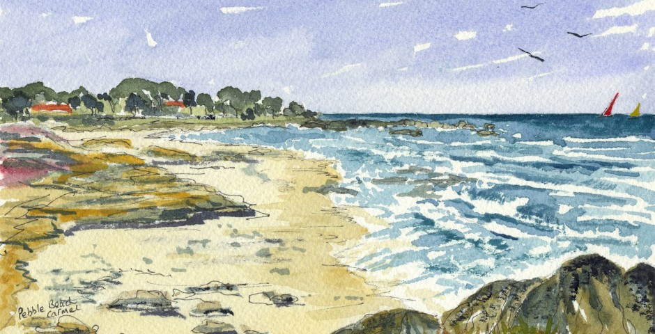 On 17 mile drive in California. 20 by 13 cms. £90