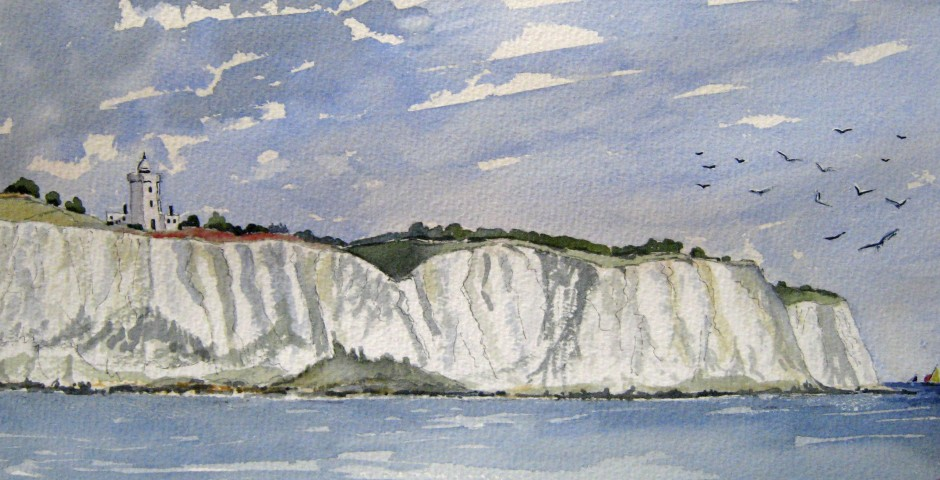 South Foreland Lighthouse in Kent. 30 by 16cms. £120